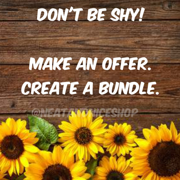 NeatandNiceShop Tops - Don't Be Shy - Get to Shopping - Bundle and Save